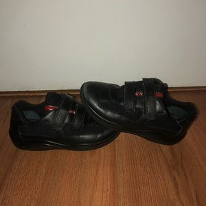 Prada Black Leather Strap Boys Kids Size 2